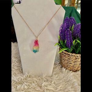 Jewelry - Gorgeous Rainbow Chakra Rock Necklace! 🌈⭐️⭐️